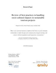 Review of best practices in handling socio-cultural impacts in ... - ERIM
