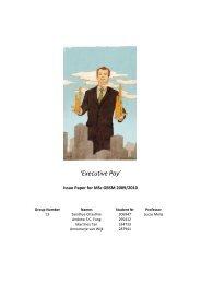 'Executive Pay' - ERIM