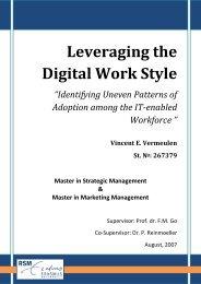 Leveraging the Digital Work Style - ERIM