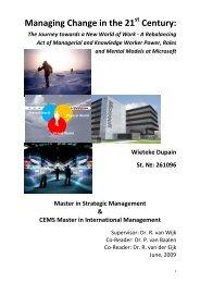 Managing Change in the 21st Century: - ERIM