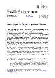 Presse Info ERiNET Berufung in die AEI 11 02 2011