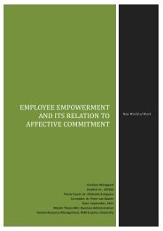 Employee empowerment and it's relation to affective ... - ERIM