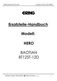 Ersatzteile-Handbuch Modell: HERO BAOTIAN BT125T-12D