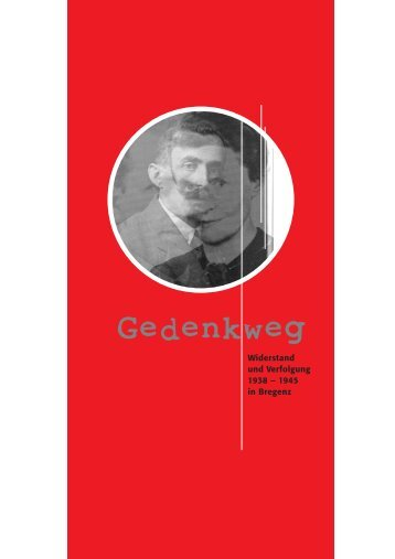 Broschüre Gedenkweg Bregenz - Katholische Kirche Vorarlberg