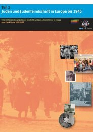 Teil 1 Juden und Judenfeindschaft in Europa bis 1945 - Erinnern