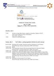 ICHEIC Humanitarian Fund Seminar for Teachers from ... - Erinnern