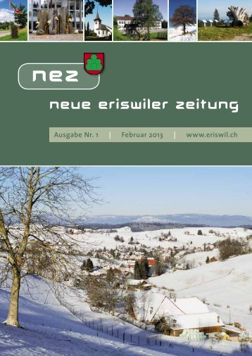 Neue Eriswiler Zeitung Ausgabe 01/2013