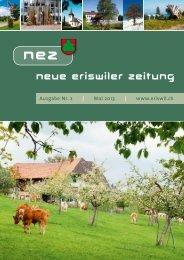 Neue Eriswiler Zeitung Ausgabe 02/2013