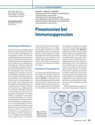 Pneumonien bei Immunsuppression - ResearchGate