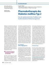 Pharmakotherapie des Diabetes mellitus Typ 2 - Erkan Arslan