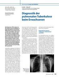 Diagnostik der pulmonalen Tuberkulose beim ... - Erkan Arslan