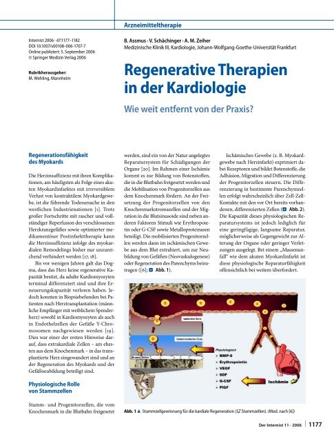 Regenerative Therapien in der Kardiologie - Springer