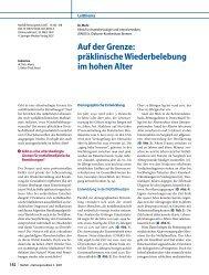 Auf der Grenze: präklinische Wiederbelebung im hohen ... - Springer