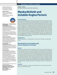 Myokardinfarkt und instabile Angina Pectoris - Erkan Arslan