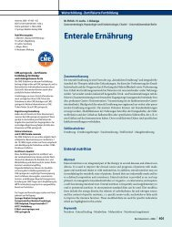 Enterale Ernährung - Erkan Arslan