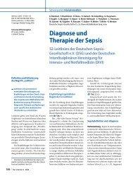 Diagnose und Therapie der Sepsis - ResearchGate