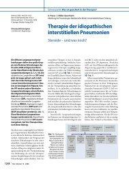 Therapie der idiopathischen interstitiellen Pneumonien - Springer