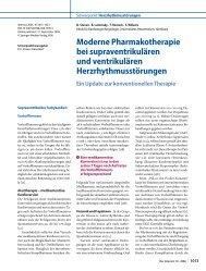 Moderne Pharmakotherapie bei supraventrikulären und - Erkan Arslan