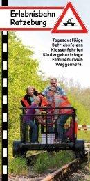 Flyer 2013 - der Erlebnisbahn Ratzeburg