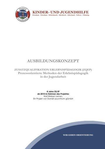 Ausbildungskonzept ZQEP - Wolf Erleben Lernen