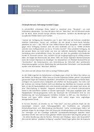 Marktkommentar Juli - Erlebnisbank.ch