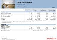 Dienstleistungspreise Privatkunden - Erlebnisbank.ch