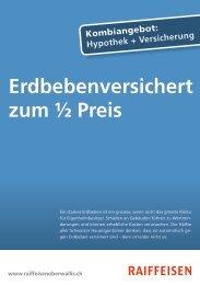 Erdbebenversichert zum ½ Preis - Erlebnisbank.ch