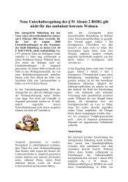 Neue Unterhaltsregelung des § 91 Absatz 2 BSHG ... - Asbh Potsdam