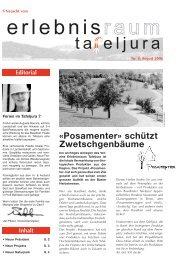 «Posamenter» schützt Zwetschgenbäume - Erlebnisraum Tafeljura