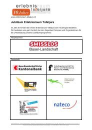 Sponsoren Jubiläum - Erlebnisraum Tafeljura
