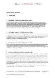 Häufige Fragen und Antworten zum Jurapark Baselland