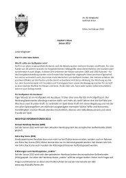 Bericht - Golfclub Erlen