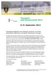 Ladies' Day: Erlen Trophy - Golfclub Erlen
