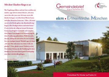 September 2011 - EMK Erlöserkirche München ...