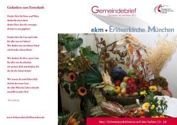 November 2011 - EMK Erlöserkirche München ...
