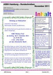 ASBH Hamburg – Rundschreiben November 2011