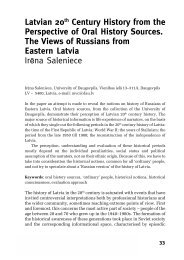 Latvian 20th Century History from the Perspective of Oral History ...
