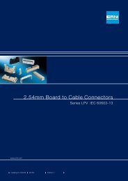 2.54mm Board to Cable Connectors Series LPV IEC 60603-13 - Erni