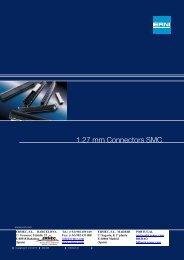 ERNI 1.27 mm Connectors SMC - Ermec