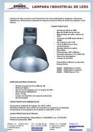 LAMPARA INDUSTRIAL DE LEDS - Ermec