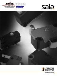 SAIA Switch Catalog Johnson Electric - Ermec