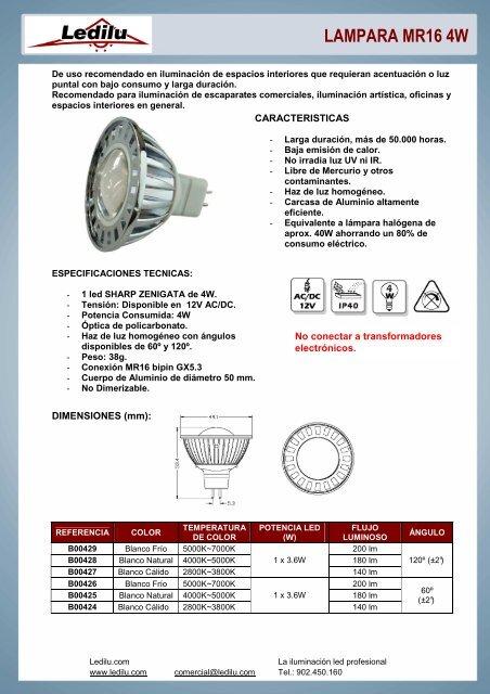 6 x STATUS bombillas hal/ógenas 50 W GU10 intensidad regulable Reflector GU 10 bombillas de 36/° /ángulo del haz de luz conectado a la corriente el/éctrica 240 V