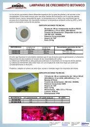 LAMPARAS DE CRECIMIENTO BOTANICO - Ermec