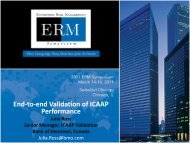 End-to-end Validation of ICAAP Performance - ERM Symposium