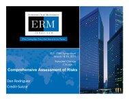 Comprehensive Assessment of Risks Dan ... - ERM Symposium