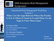 Operational Risk - ERM Symposium