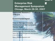 Environmental Impact - ERM Symposium