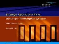 Strategic Operational Risks - ERM Symposium