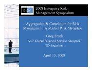 2008 Enterprise Risk Management Symposium ... - ERM Symposium