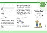 Asbh-Tagung Hydrocephalus bei Schülern ... - Asbh Potsdam